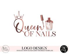 Fuentes Silhouette, Nail Salon Names, Nail Salon Design, Restaurant Logo, Eyelash Logo, Nail Logo, Queen Nails, Lashes Logo, Beauty Salon Logo