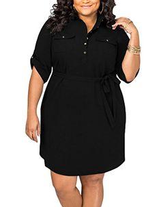 Lalagen Women's Casual Half Sleeve Belted Plus Size Shirt... https://www.amazon.com/dp/B01N0HJR92/ref=cm_sw_r_pi_dp_U_x_b.PyAbF3TBNBY