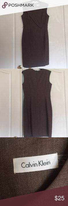 Brown Calvin Klein Casual Dress Gently used, business casual dress, perfect for a meeting or corporate office party. Calvin Klein Collection Dresses Midi