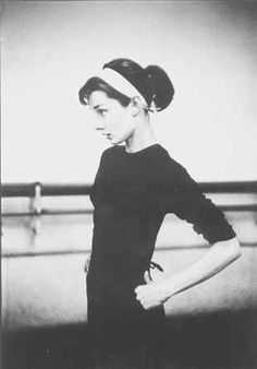Audrey Hepburn. Headbands and bangs never go out of style.