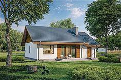 Projekt domu Murator C333j Miarodajny - wariant X 86,6 m2 - koszt budowy 174 tys. zł - EXTRADOM Exterior, Outdoor Structures, Cabin, House Styles, Outdoor Decor, Home Decor, Arquitetura, Projects, Room Decor