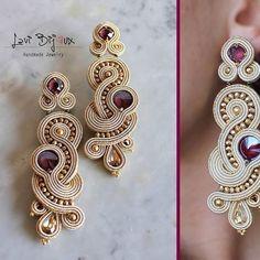 Macrame Earrings Tutorial, Soutache Tutorial, Earring Tutorial, Soutache Necklace, Tassel Earrings, Ring Earrings, Boho Jewelry, Jewelery, Handmade Jewelry