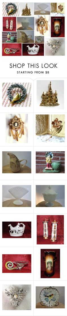"""""""Vintage miracles for everyone!"""" by luckystanlv ❤ liked on Polyvore featuring CORO, Lenox and vintage"""