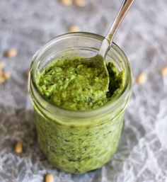 Creamy Avacadol Pesto - can use spinach too. This recipe uses avocado instead of olive oil to make the most delicious, healthy pesto! Vegetarian Recipes, Cooking Recipes, Healthy Recipes, Drink Recipes, Keto Recipes, Dinner Recipes, Healthy Pesto, Healthy Eating, Healthy Fats