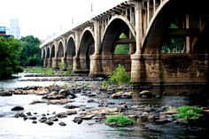 Under the Gervais Street Bridge, Columbia, South Carolina