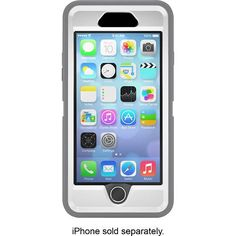 OtterBox - Defender Series Case for Apple® iPhone® 6 - White/Gunmetal Gray - Alternate View 2 plastic screen protecter