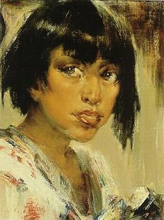 This is a photo of the Nicolai Fechin painting titled Portrait of Indian Youth.