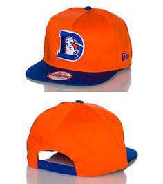 eb1d6240793b1 NEW ERA A-frame football snapback cap Adjustable strap on back of hat for  comfort Embroidered Denver.