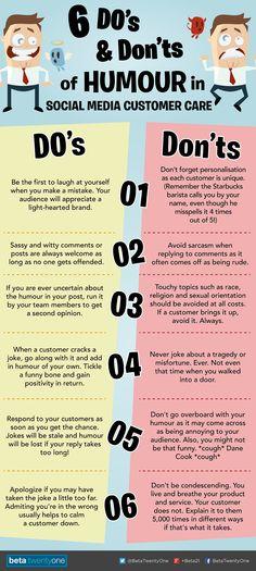 "Great tips! ""6 DOs and DON'Ts of Humour in Social Media Customer Care"" via @Elizabeth Tavares-Tugie #CustServ"