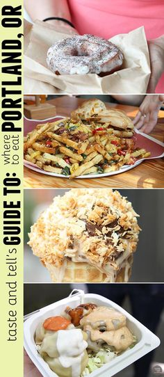 Taste and Tell& Guide to Where to eat in Portland, OR - donuts, ice cream, sandwiches, dumplings and so much more! Oregon Vacation, Oregon Road Trip, State Of Oregon, Oregon Travel, Oregon Coast, Travel Portland, Portland Eats, Portland Restaurants, Portland Food Trucks