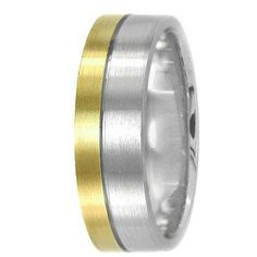 Jewelry Point - Modern 14k Two-Tone Gold Wedding Band Satin Ring, $395.00 (http://www.jewelrypoint.com/modern-14k-two-tone-gold-wedding-band-satin-ring/)