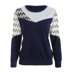 Crew Neck Panelled Sweatshirt