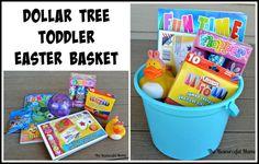 dollar tree Easter basket toddler
