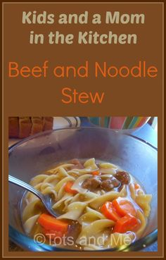 Tots and Me... Growing Up Together: Kids and a Mom in the Kitchen #113: Beef and Noodle Stew