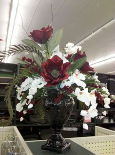 Magnolia+Floral+Arrangement+by+VickieNovakDesigns+on+Etsy,+$140.00