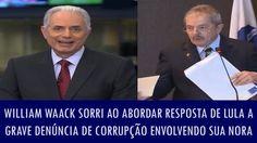 LULA, BOCA DE CIMENTO. CÍNICO. DOENTE! William Waack sorri ironicamente ao abordar resposta de Lula a grave den...