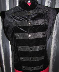 Gothic Men, High Collar, Chef Jackets, Collars, Menswear, Vest, Lace, Clothing, How To Wear