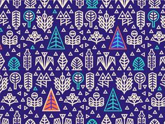 Dribbble - Geometric Nature [Pattern Design] by Szende Brassai / Adline
