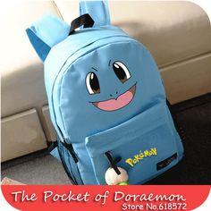 Candy Color Anime Kawaii Pokemon Pocket Monster Squirtle canvas Printing Backpack school bags for teenagers Children Backpacks  #Happy4Sales #fashion #backpack #handbags #shoulderbags #YLEY #bag #highschool #kids #bagshop