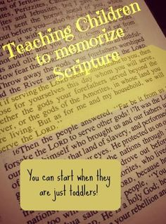 Teaching Children to Memorize Scripture | Even a Toddler Can Start Learning