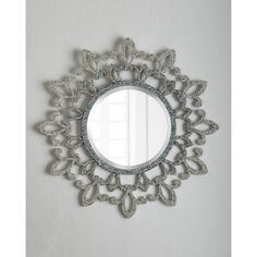 Horchow Fleur-De-Lis Lace Mirror ($395) ❤ liked on Polyvore featuring home, home decor, mirrors, flower mirror, handmade home decor, fleur de lis mirror, accent mirrors en colorful home decor