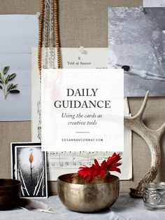 Daily Guidance: Using the cards as creative tools | a new class on SusannahConway.com Tarot Cards, Art Journaling, Aquarius, Mists, Giveaway, Deck, Collections, Place Card Holders, Wellness