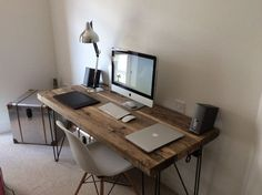 timber steel desks uk - Google Search
