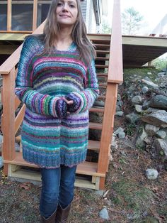 Dayana Knits: Scraptastic #2, using hundreds of pieces of leftover yarn!