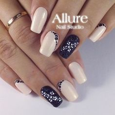 Simple Nail Art... I would keep the darker nails a solid color