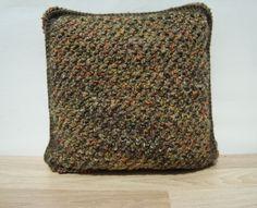 Knitting Pillow Multicolor Pillow Home Decor by GreenCatStudio
