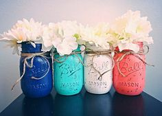A perfect way to add color and personality to any room! Great for weddings, baby showers, birthday parties and much more! Jars can be used as