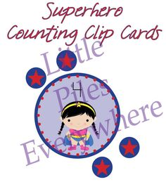 Superhero Clip Cards