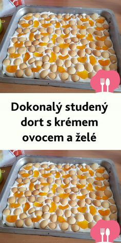 Dokonalý studený dort s krémem ovocem a želé Cereal, Cheesecake, Vegetables, Breakfast, Food, Breakfast Cafe, Meal, Cheese Cakes, Eten