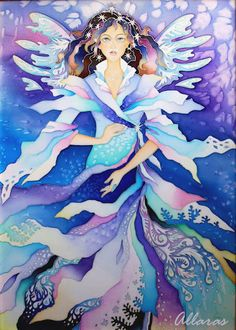 Картинка Russian art silk painting of fairy