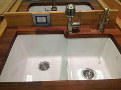 Ceramic dual kitchen sink