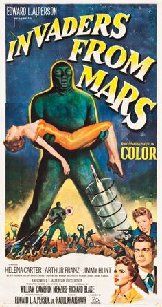 "Movie Posters:Science Fiction, Invaders from Mars (20th Century Fox, 1953). Three Sheet (41"" X79"").. ..."