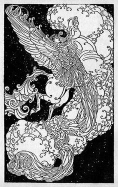 "Dugald Stewart Walker illustration - ""Pegasus."""
