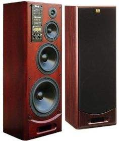 RRR S-400M 4-way 400W Monitor Speakers Mahogany (Pair) Made in Europe