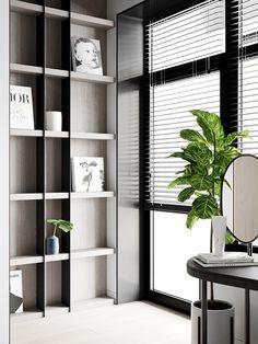 Minimalistic apartment in Moscow, Russia. Interior Architecture, Interior Design, Concept Home, Shelf Design, Bespoke Design, Apartment Interior, Modern Room, Interior Inspiration, Shelving