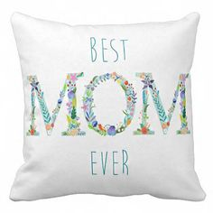 Pillow Cover Mother's Day Gift Best Mom Ever Cotton and Burlap Pillow Cover