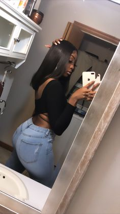 Pretty Black Girls, Beautiful Black Girl, Trendy Outfits, Cute Outfits, Thick Body, Slim Thick, Loungewear Outfits, Lässigen Jeans, Dark Skin Girls