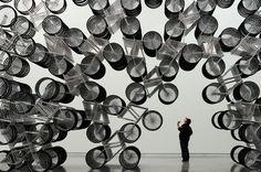 """""""Forever Bicycles"""" de Ai WeiWei: 1.200 bicicletas, una por cada millón de habitantes de China, para reflejar el cambio social y económico del país."""