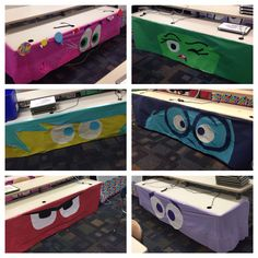 "Disney Pixar's ""Inside Out"" themed classroom. Character Table Skirts"