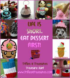 Sweet treats, iceream and Cupcakes crochet patterns!