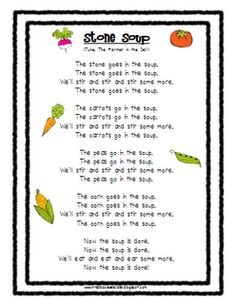 Mrs. Albanese's Kindergarten Class  Stone Soup Song and veggie cards