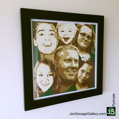 Here's one of our latest client's personalized portrait artwork. This would be a great idea for Mother's Day gift for your loved one. Order your own a personalized portrait today with 25% off by coupon code: mom25 at http://jonsavagegallery.com/commissions/