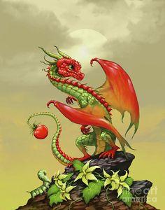 Tomato Dragon Digital Art by Stanley Morrison