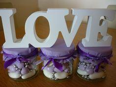 Pretty Lilac Sweet Filled Wedding Favour Jar £2.70