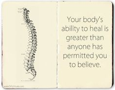 Your body has an incredible innate intelligence at work through your nervous system. Don't let subluxations stand in it's way, get adjusted! http://www.DrSchluter.com