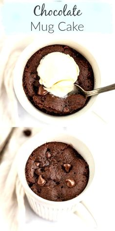 Chocolate mug cake is SO easy! This is the BEST Chocolate Mug Cake - it's incredibly easy to make with just a few simple ingredients (no eggs!) and is made right in the microwave. You can top this with peanut butter Nutella ice cream or even fruit. This mug cake makes a perfect easy chocolate dessert! #recipes #cake #easy #easyrecipe #dessert #chocolate ...he pan on a stove to melt the chocolate just because a little bit of chocolate burnt over butter has that extra taste to it especially…